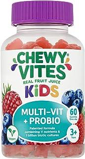 Chewy Vites Kids | Multi-Vit & Probio 60 Gummy Vitamins | 11 Essential Nutrients| 1 Billion Cultures |2 Months Supply | Re...