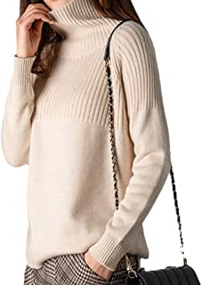 Ailaile Cashmere Sweaters Women Loose Jumpers Wool Knit Split Thick Turtleneck Pullover Winter