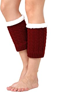 DREAM SLIM Women's Knitted Crochet Thicken Short Boots Cuffs Leg Knee Ankle Warmers