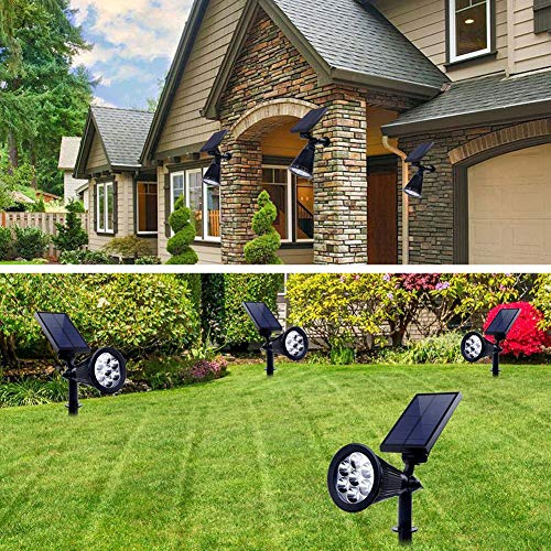 Solar Lights Outdoor Colored Waterproof 7 LED Color Changing Solar Spot Lights Landscape Spotlight for Yard Garden Patio Lawn - 2 Pics