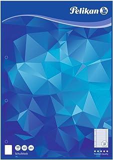 Pelikan 100045 schoolblok A4, 50 vellen, liniatuur 27 (gelinieerd), schoolschrijfpapier, 90 g/m², FSC Mix, wit