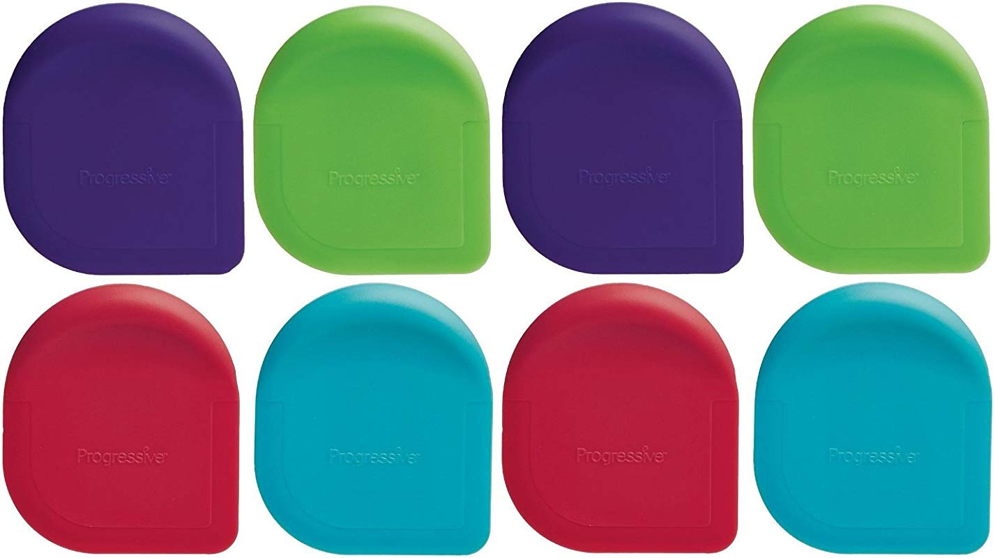 Progressive Nylon Pan Scrapers Assorted Colors Pack Of 8