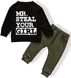Toddler Baby Infant Boy Clothes Mr Steal Your Girl Vest...