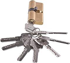 Slot 65 mm met 8 sleutels duim omzet profiel cilinder vat slot messing satijn nikkel afwerking Strong
