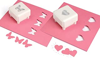 Martha Stewart Butterfly and Studded Heart Crafts All Over Punches, White by Martha Stewart
