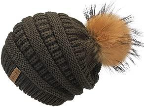 FURTALK Womens Winter Knit Slouchy Beanie Hat Warm Skull Ski Cap Faux Fur Pom Pom Hats for Women