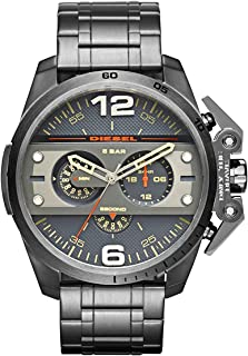 Diesel Black Stainless Steel Gun Metal dial Watch for Men's DZ4363
