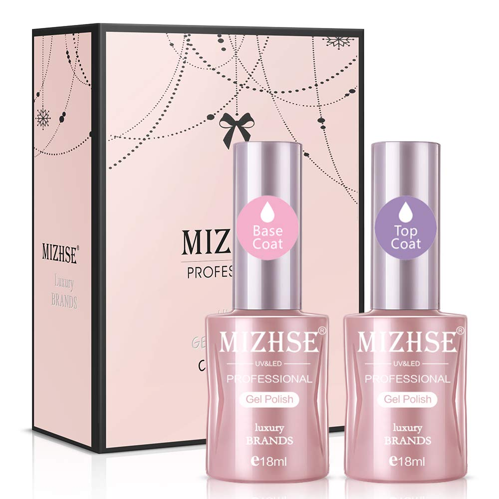 MIZHSE Base and Top Coat Gel New product type Polish Large T 70% OFF Outlet Nail Capacity 2x18ML