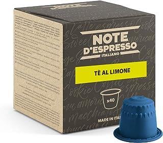 Note d'Espresso - Thé Citron - Capsules Exclusivement Compatibles avec Machine NESPRESSO* - 40 x 8 g