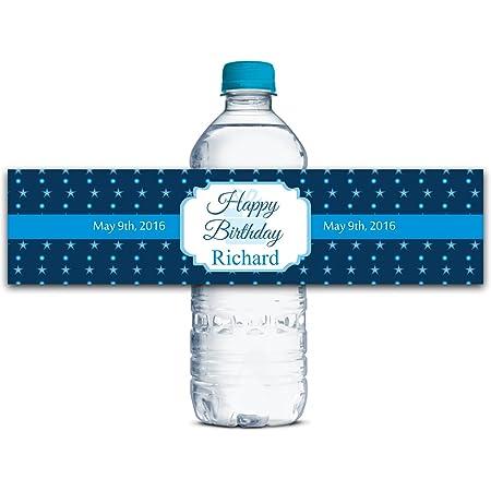 Custom Bottle Sticker,Self Stick Labels WBL194P Custom Water Bottle Labels Waterproof Bottle Labels Birthday Labels Personalized Labels