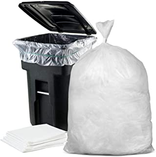 """Plasticplace 95-96 Gallon Garbage Can Liners │ 2 Mil │ Clear Heavy Duty Trash Bags │ 61"""" X 68"""" (25Count)"""
