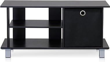 Furinno Simplistic TV Entertainment Center, Espresso/Black