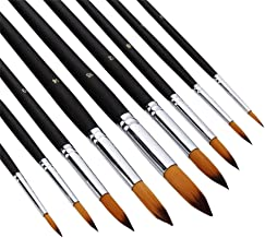 AOOK Artist Paint Brushes Superior Hair Artists Flat Round Point Tip Paint Brush Set for Watercolor Acrylic Oil Painting S...