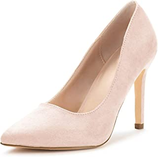 Nailyhome Womens High Heels Pointed Toe Slip on Stiletto Pumps Wedding Work Shoes for Women