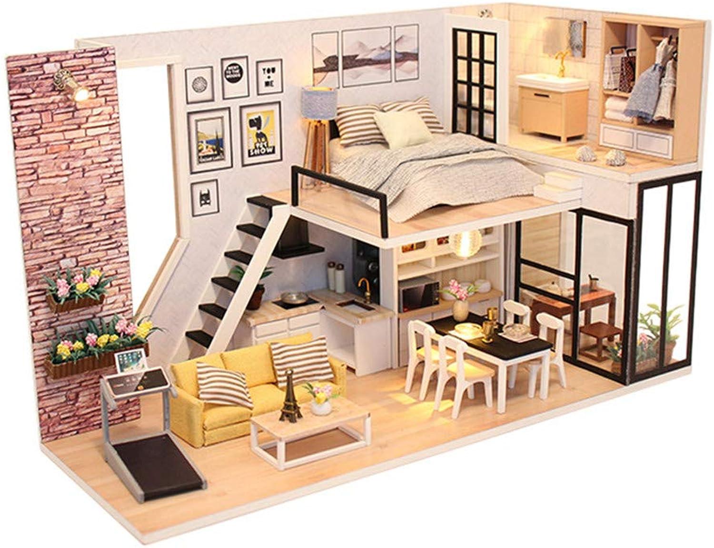 promociones Miniatura DIY Kit Kit Kit de casa de muñecas Diy House To Bring You Cover Manual Asamblea Modelo Villa Villa Juguetes de madera creativos Regalos Casa de muñecas de madera con muebles y accesorios, Juguetes e  respuestas rápidas