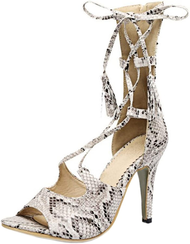 KemeKiss Women High Heel Gladiator Sandals