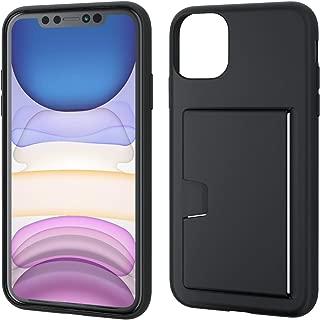 エレコム iPhone 11 ケース ソフト 弾力性+頑丈 2枚までカード収納可能 ブラック PM-A19CUCCSBK