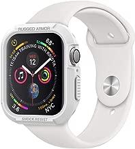 Spigen Apple Watch Funda, Rugged Armor diseñado para Apple Watch 44mm Series 5 / Series 4 Case - Blanco