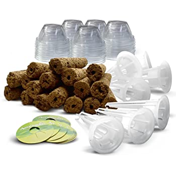 Miracle-Gro AeroGarden 50-Pack Grow Sponges, Grow Domes, Grow Baskets and Pod Labels