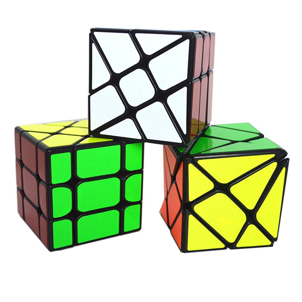 MZStech Juego de 3 Pack Magic Cube Fisher + Rueda + Eje Cubo Especial de Velocidad de Forma (Negro): Amazon.es: Juguetes y juegos