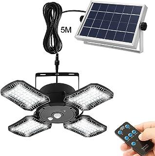 Lampes solaires pour extérieur et intérieur, 128 LED Lampe solaire avec détecteur de mouvement IP65 étanche Applique mural...