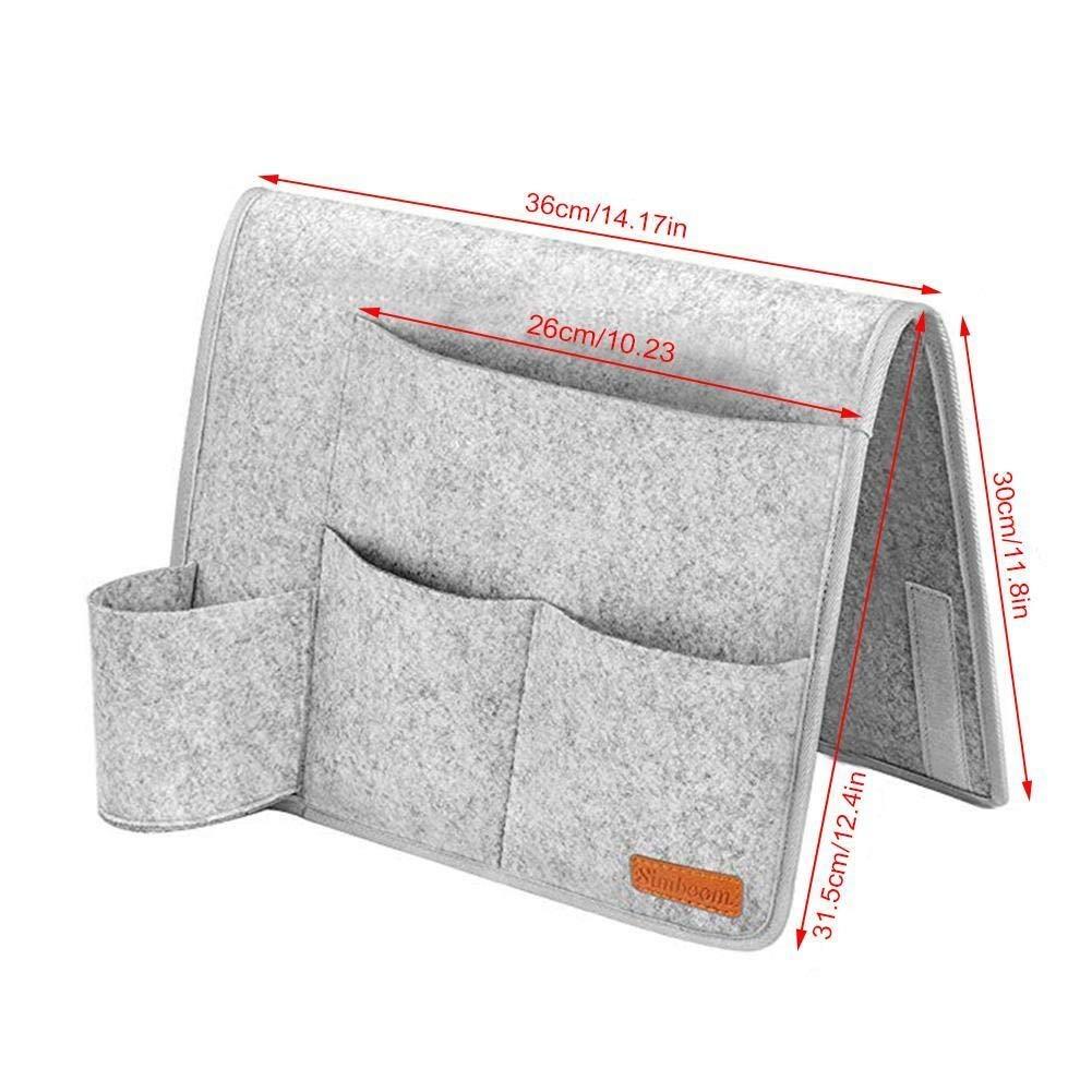 Y·z Organizador para Colgar Cama PC 1 Fieltro de cabecera de almacenamiento de bolsillo cama colgante del bolso del organizador de escritorio de control remoto de televisión Sofá Bolsa bolsillos colga: Amazon.es: