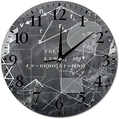円形 掛け時計 フレームなし壁掛け時計 数学幾何学 (1) 壁掛時計 クロック ウォールクロック 壁掛け 音無し おしゃれ 飾り付け