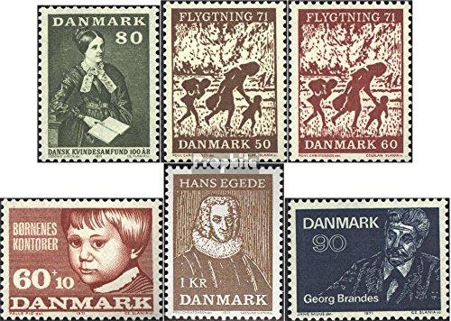 Danemark mer.-no.: 507,508-509,510,511,518 (complète.Edition.) 1971 Femmes, Fuite, Enfants, Egede, Bran (Timbres pour Les collectionneurs)