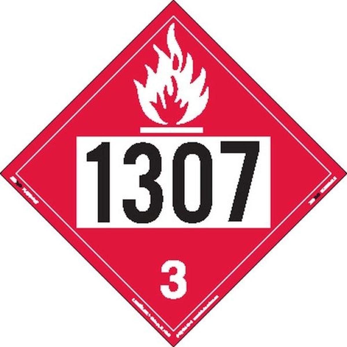Max 50% OFF Labelmaster ZT2-1307 UN 1307 Flammable Liquid Hazmat Wholesale Ta Placard