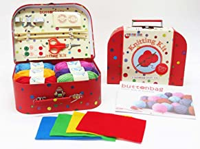 button bag Complete Creative Art & Craft Knitting Set for Kids Ages 8 Years & Up