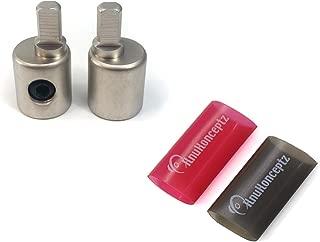 KnuKonceptz Offset Power/Ground Input Wire Gauge Reducer 0-4 Gauge 1/0 Pair with Heat Shrink
