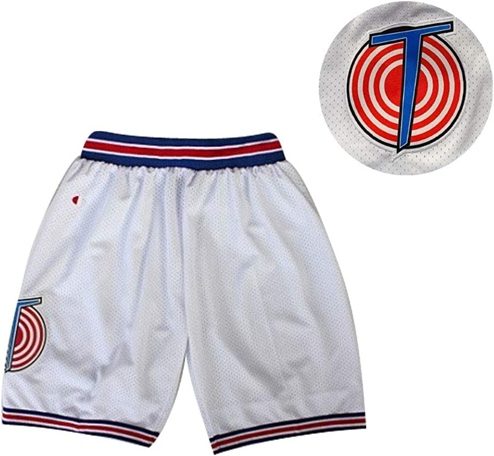 Space Jam Movie Basketball Tune Squad Shorts White Black Red Halloween hot