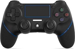 2021年最新版 PS4 コントローラー SHINEZONE 無線 Bluetooth接続 振動機能 重力感応 ゲームパット イヤホンジャック ジャイロセンサー PS4対応 充電ケーブル付き 最新バージョン対応 12ヶ月品質保証(グレー)