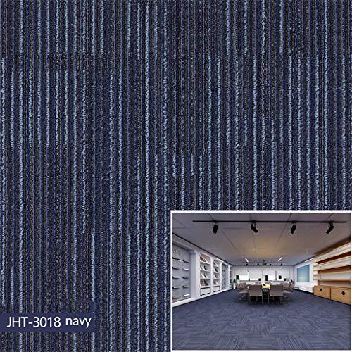 ZZFF Handelsteppich-Bodenfliesen, erstklassige Selbstklebende Noppenteppich-Fliesen-Quadrate rutschfeste Schalen-Stock-Boden-Matte für Haus 12 Fliesen A 50x50cm (20x20inch)