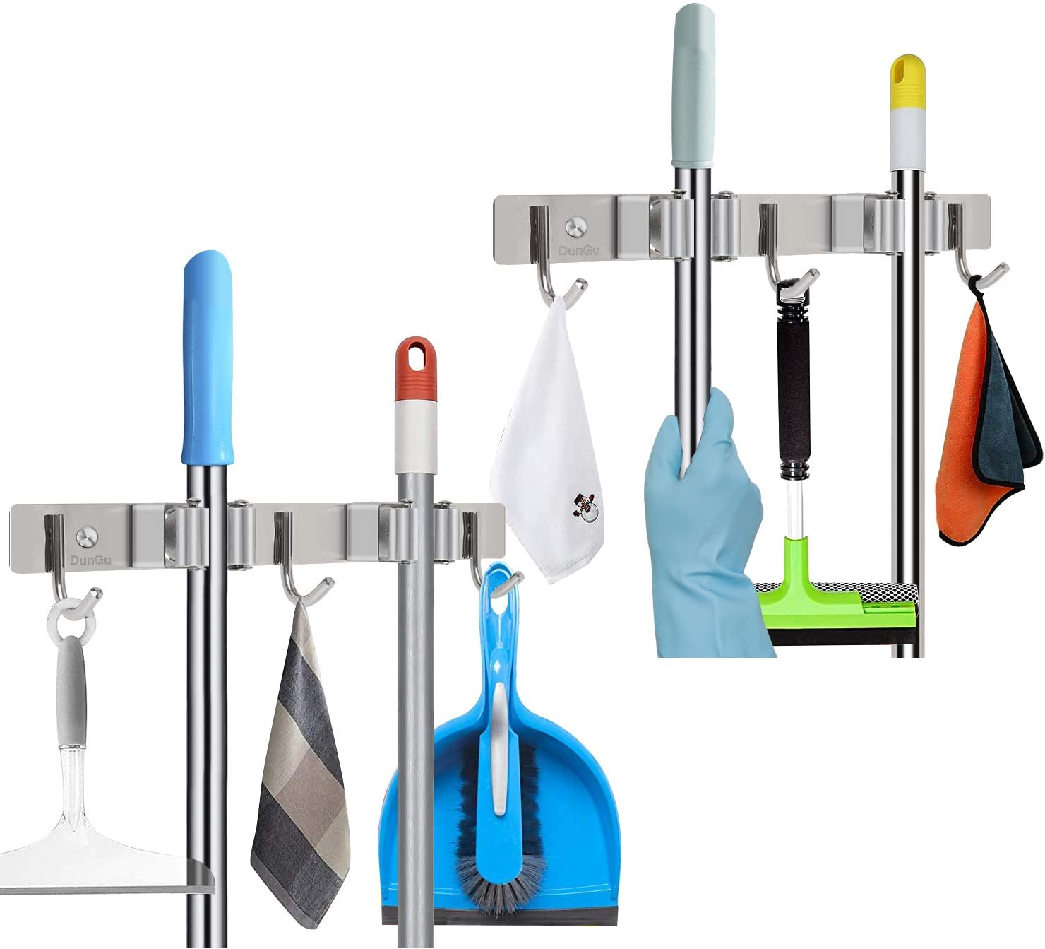 Mop 5 ☆ very popular Broom Ranking TOP20 Holder Wall Mounted Steel Stainless Long-Term 11In Use