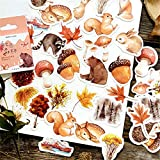 BBGSFDC Beau 46 PCS/Pack Forest Animaux Stickers Pack Posted It...