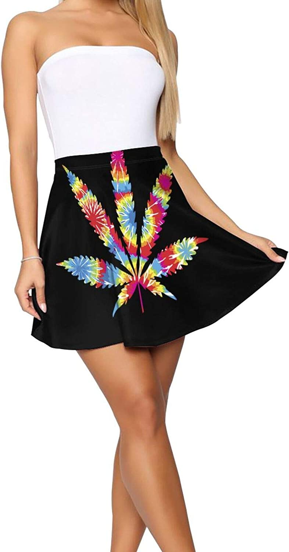 Pastel Hawaiian Hibiscus Women's Skater Skirt Casual Short Skirt