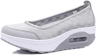 DJiess Femmes été Chaussures de Sport épais Fond extérieur Respirant Chaussures de Plate-Forme de Loisirs de Bateau Femme ...