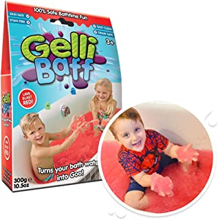 Gelli Baff Red from Zimpli Kids, Turns Water into Thick, Colourful goo, Make Your own Science Experiment Children's Sensor...