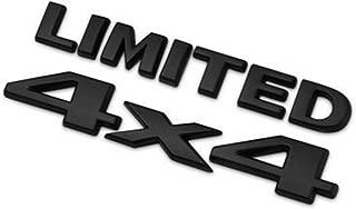 Dsycar 4 X 4 +Limited Chrome Logo 3D Decal Emblem Logo Sticker Nameplate Badge Decoration for Jeep Grand Cherokee Wrangler Compass (Black)