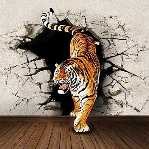 RTYUIHN Wallpaper Camera da letto semplice Wallpaper Rhino Tiger 3D Wallpaper Modern Wall Art Decoration
