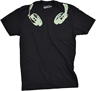 t shirt with headphone print