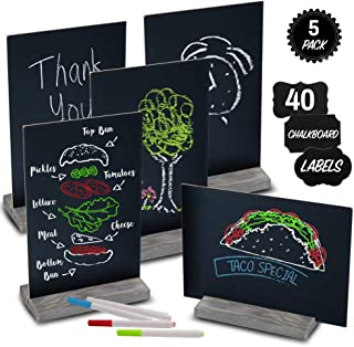Mini Chalk Board by East World - Double-Sided Chalkboard Sign for Wedding Decorations, Signs, Labels and More! Also Multi-Size 6x9