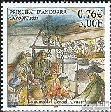 Prophila Collection Andorra - francés Correos Michel.-No..: 572 (Completa.edición.) 2001 Cocina (Sellos para los coleccionistas)