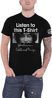 John Lennon T Shirt Listen to This T-Shirt Logo Nouveau Officiel Homme
