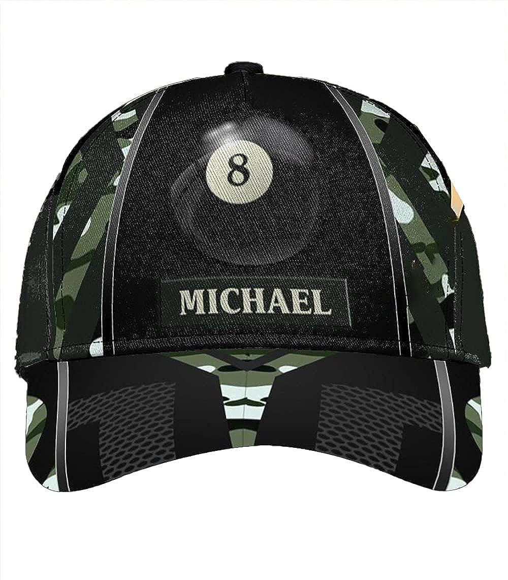 Personalized Billiard Classic Cap Classic Cap Baseball Cap for Men Cap for Women with Adjustable Strap Sports Soft Caps Outdoor