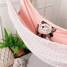 Color : A RLJJSH Infant Baby Portable Hammock Newborn Kid Quiescency Bed Dependable Detachable Baby Cot Crib Swing Elastic Hammock Adjustable Net RLJJSH