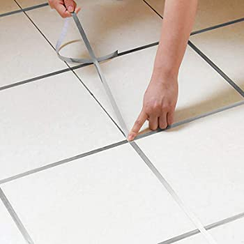 Amazon Com Eanpet 0 4 Inch X 166 Ft Tile Stickers Decorative Floor Wall Sticker Foil Line Peel And Stick Adhesive Waterproof Gap Cover For Kitchen Bathroom Living Room Bedroom 1pc Roll Silver Kitchen