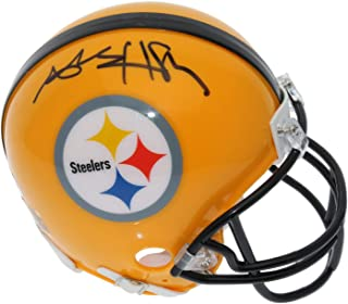 Antonio Brown Autographed Signed Pittsburgh Steelers Yellow Throwback Mini Helmet - JSA Authentic