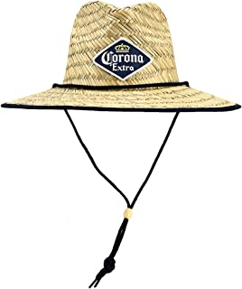 Corona Sun Hat with Woven Patch and Printed Under Brim Brown